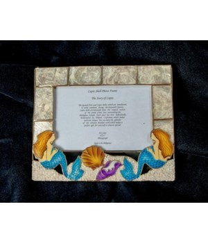 MERMAID CAPIZ FRAME