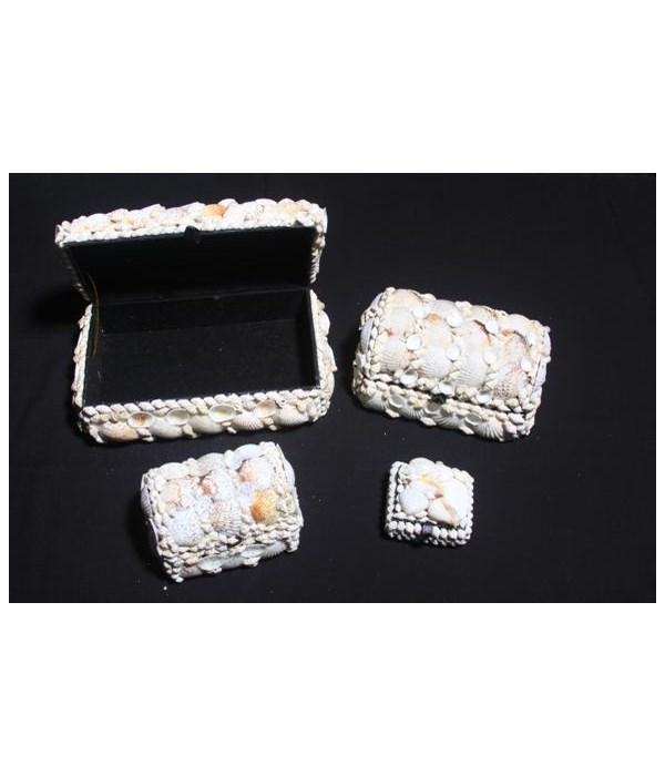 """6.5"""" WHITE SHELL BOX"""