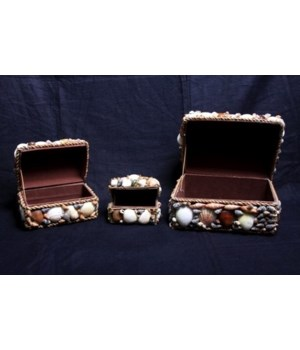 3 PC NATURAL SHELL BOX
