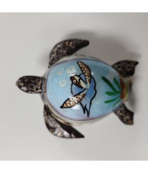 COWRIE RESIN 3D TURTLE MAGNET