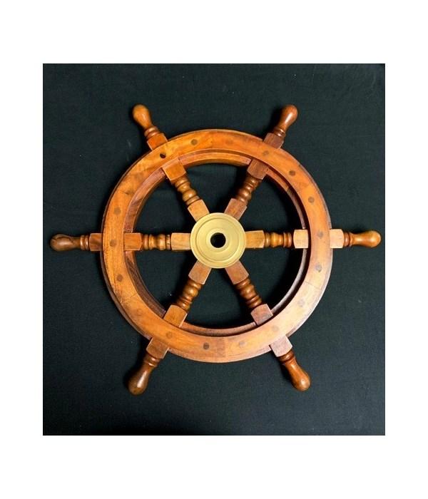 """18"""" WOODEN SHIP WHEEL"""