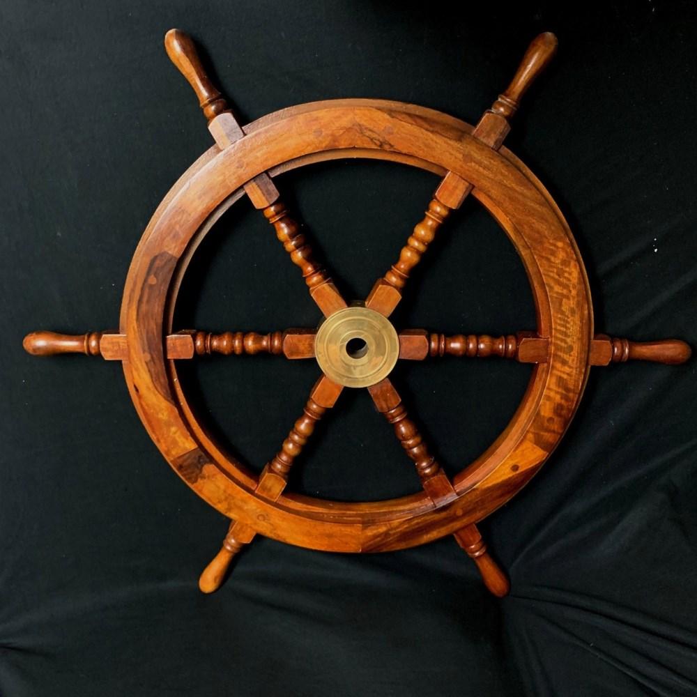 """30"""" WOODEN SHIP WHEEL"""