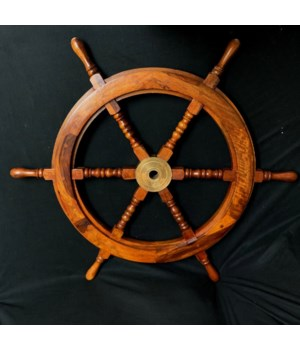 "30"" WOODEN SHIP WHEEL"