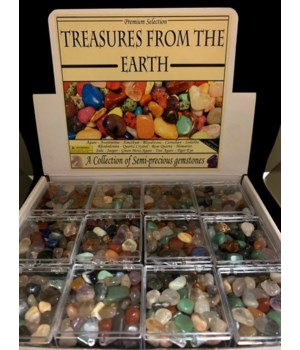48PC SEMI-PRECIOUS GEMSTONE