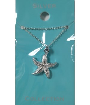 SILVER STARFISH #1 NECKLACE