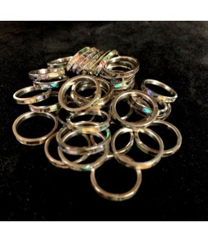 PAUA INLAY RING 5MM