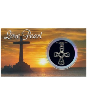 CROSS LOVE PEARL NECKLACE