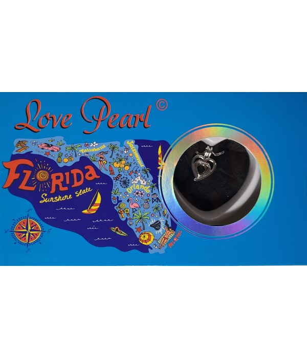 FLORIDA HEART LOVE PEARL NECKLACE