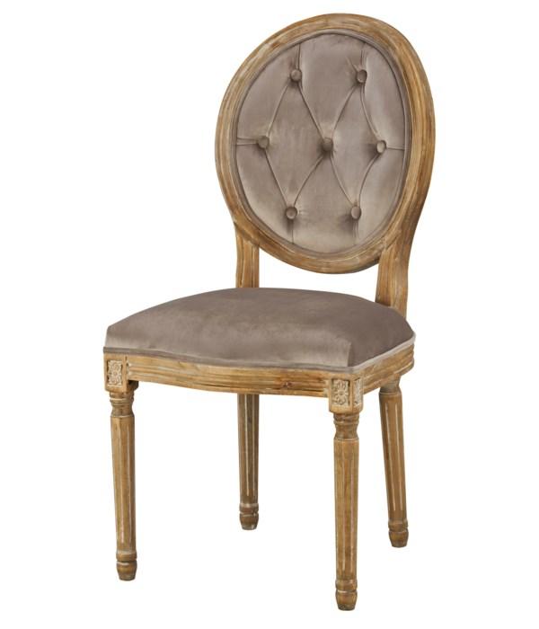 -Meg Tufted Side Chair (Chantel Ash)