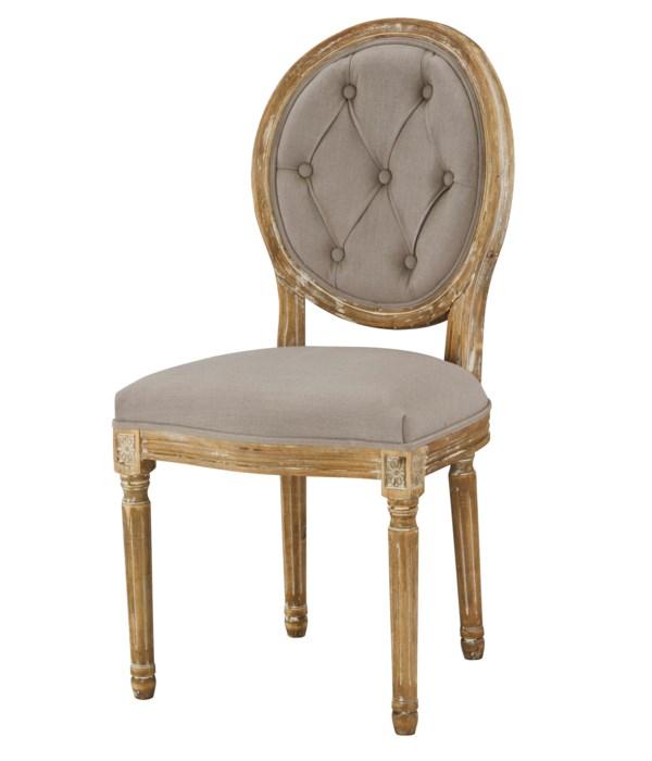 -Meg Tufted Side Chair (Grey)