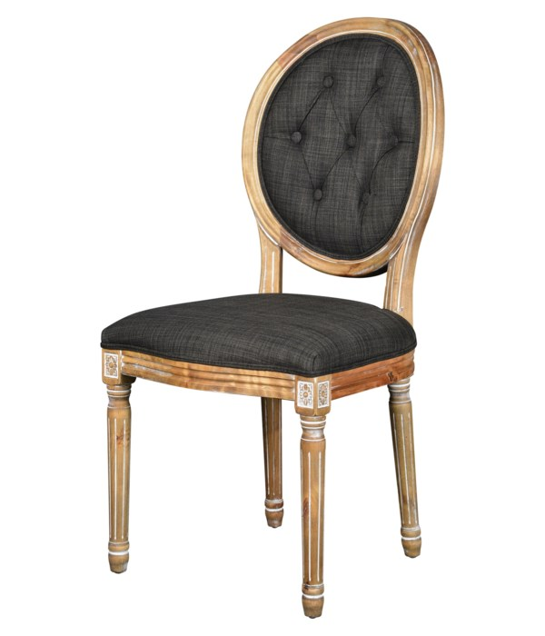 -Meg Tufted Side Chair (Urban Bark)