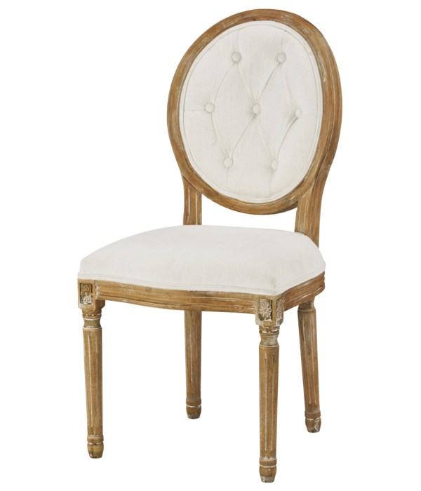 -Meg Tufted Side Chair (Washable White)