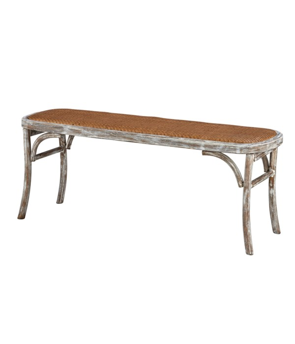 Evelyn Bench (Washed White)