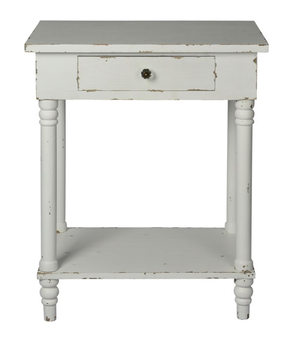 Chapel Side Table (Distressed White)
