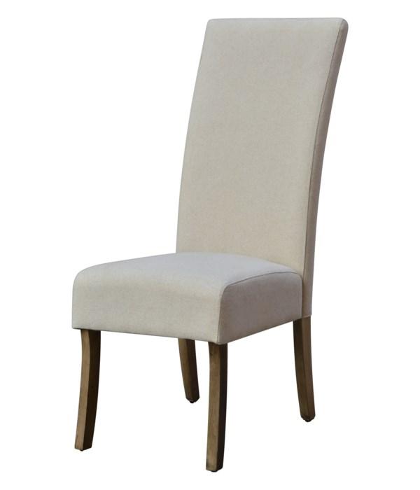 -*Assembled Classic Parsons Chair (Oatmeal Linen)