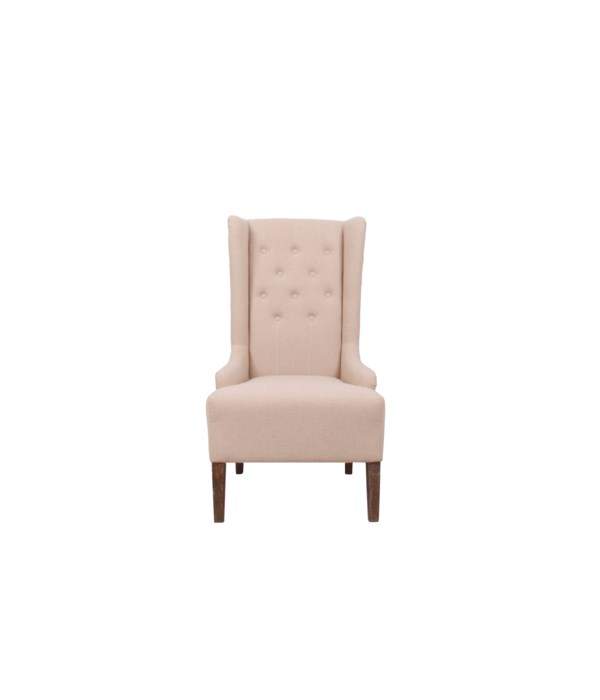 -*Riley Wing Chair (Oatmeal Linen)