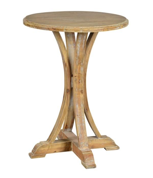 Zach Side Table (Medium Brown Wash)