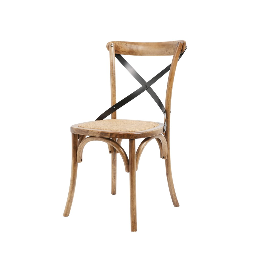-Brody X-Back Side Chair (Medium Brown)
