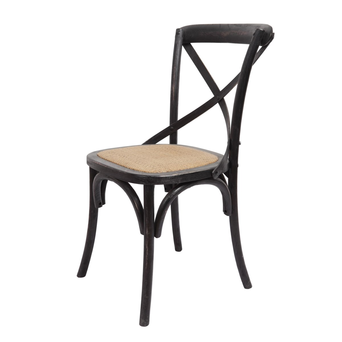 -Brody X-Back Side Chair (Black Wash)