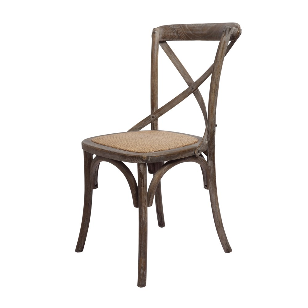 -Brody X-Back Side Chair (Brown Wash)