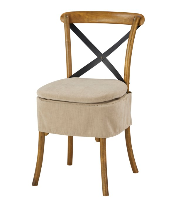 Short X-Back Cushion (Washable Oatmeal)