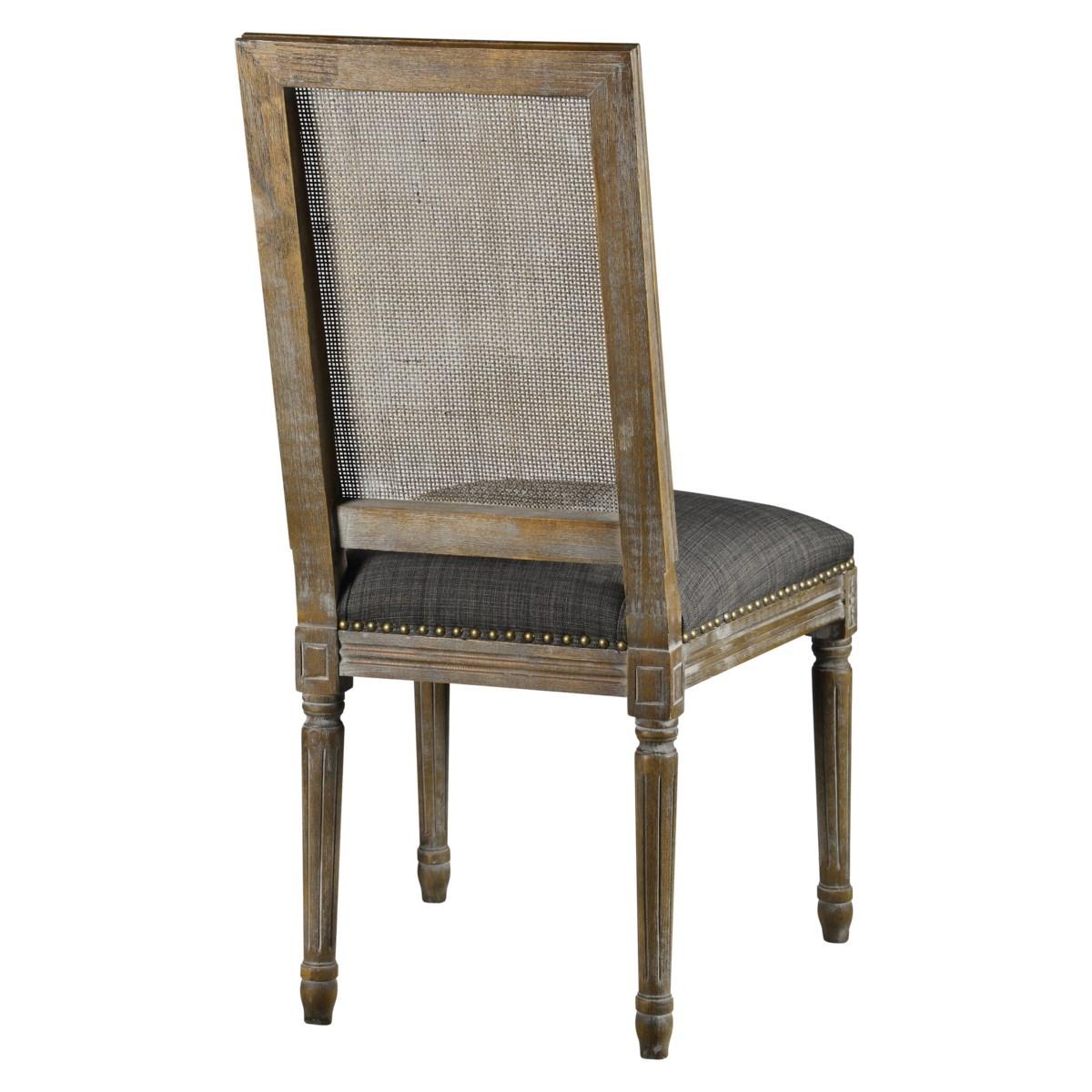 -Square Maxwell Side Chair W/ Cane(Urban Bark)