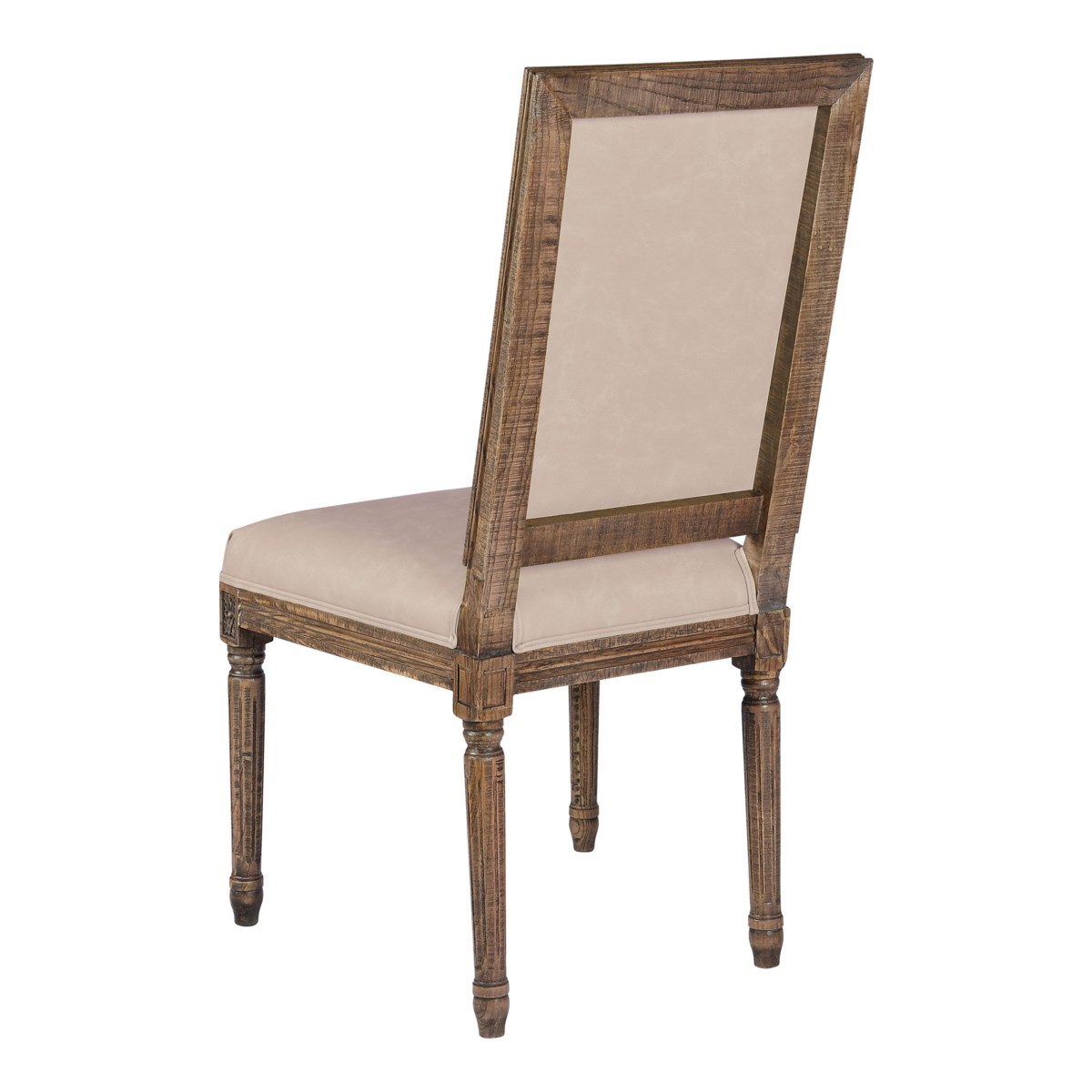 -Square Maxwell Side Chair (Mushroom PU)