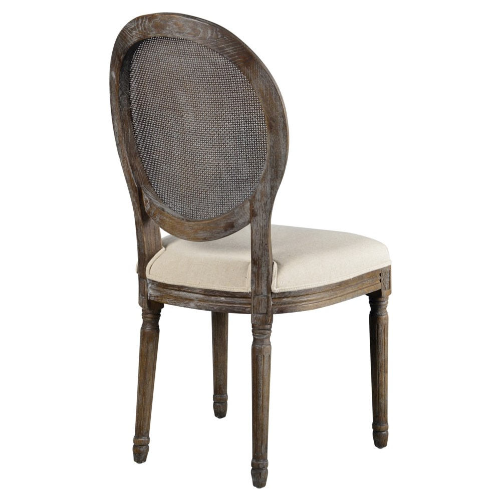 -*Round Mesh Back Maxwell Side Chair (Oatmeal Linen)