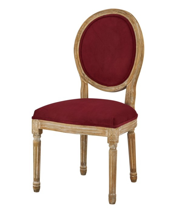 -Round Maxwell Side Chair (Berry)
