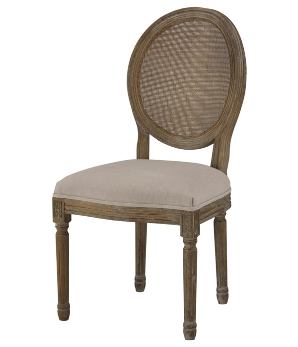 -Round Mesh Back Maxwell Side Chair (Grey)