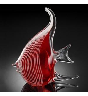Art Glass Red Angel Fish