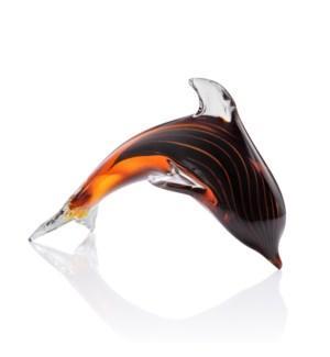 Art Glass Cresting Dolphin
