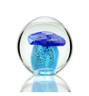 AG Blue Mushroom Paperweight