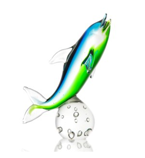 Art Glass Dolphin on Sphere
