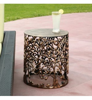 Tree and Lattice Pattern Garden Stool