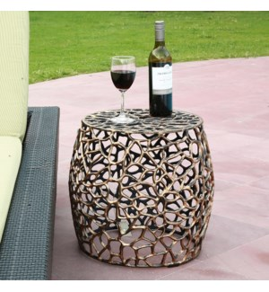 Branch and Lattice Pattern Garden Stool
