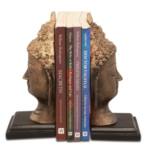 Buddha Head Bookends