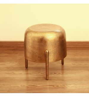 Brass Finish Three Legged Side Table