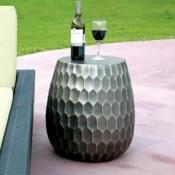 Honeycomb Pattern Garden Stool