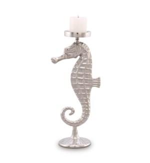 Large Seahorse Pillar Candleholder