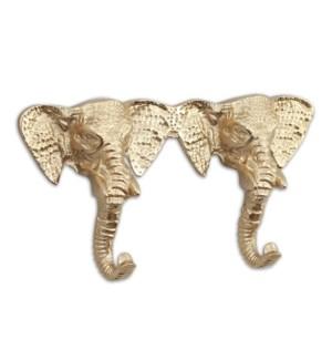 Elephant Pair Wall Hook