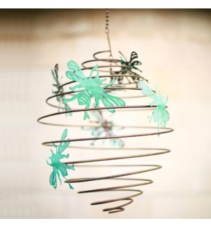 Busy Bees Spiral Wind Decor