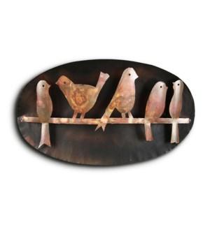 Bird Quintet on Branch Wall Hanging