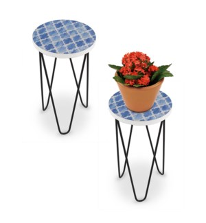 Blue Diamond Pattern Plant Stand