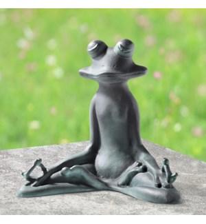 Contented Yoga Frog Garden Sculpture