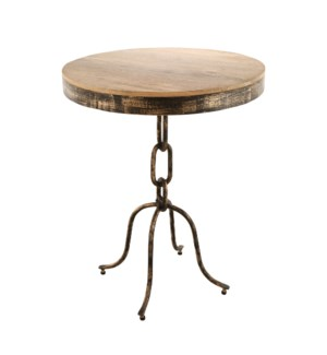 Chain Link End Table Large