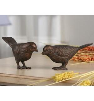 Large Chatty Birds Bronze Finish