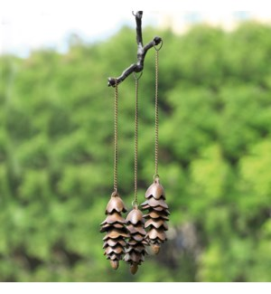 Triple Pinecone Wind Chime