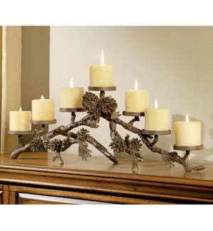 Pinecone Mantlepiece Candleholder