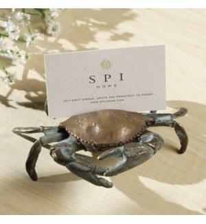 Blue Crab Card Holder